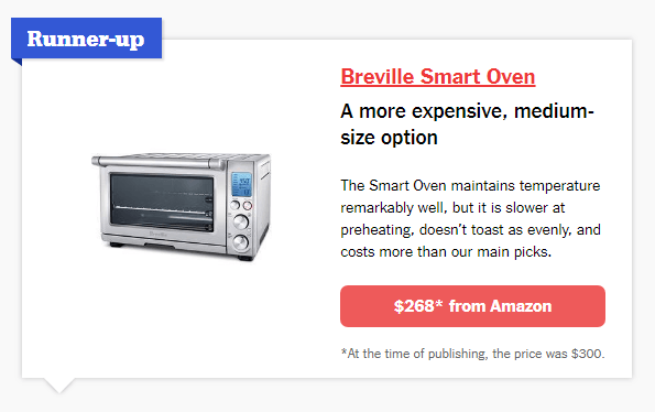 toaster oven product box on Wirecutter